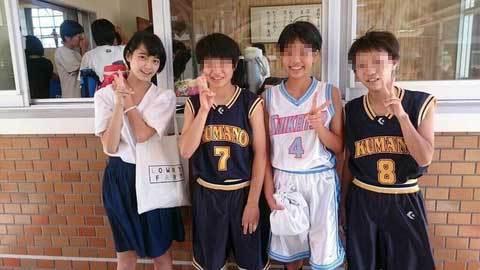 てちのバスケ部時代