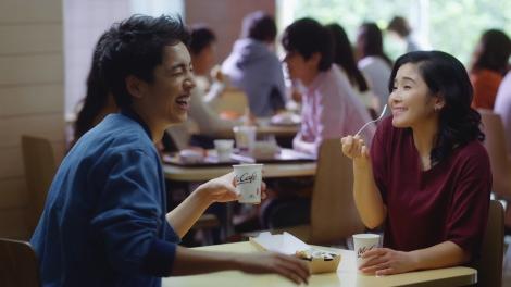 マックのシナモンメルツのCMの女優や俳優は誰?石田ゆり子の姉?!