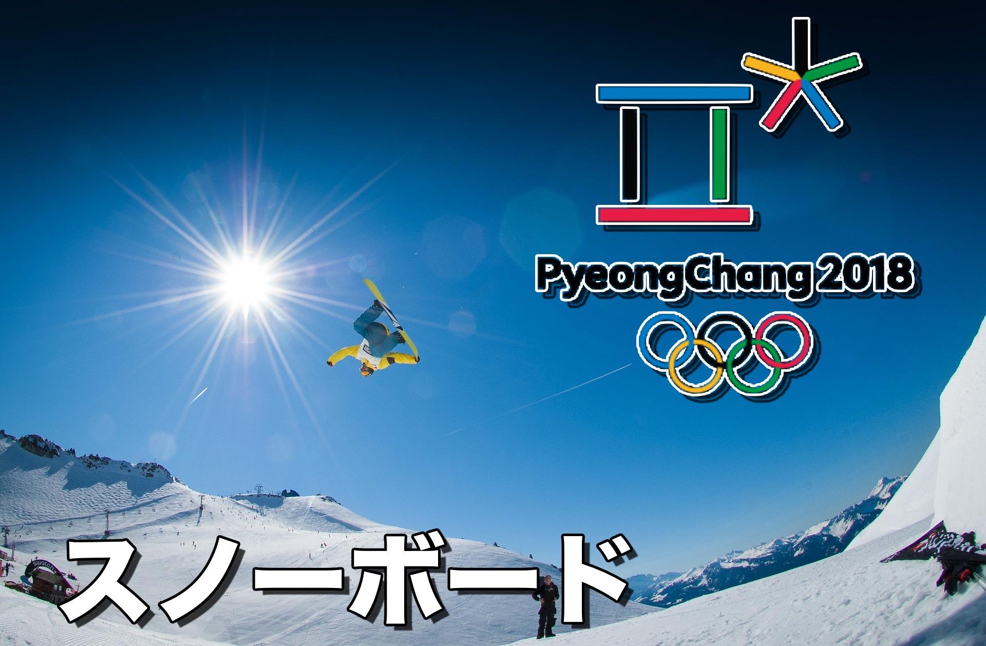平昌オリンピック男子スノーボードの日程や放送時間はいつ?