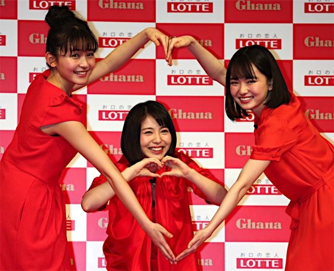 ロッテガーナチョコCM2018の女優は誰?3人娘がかわいいが名前は何?